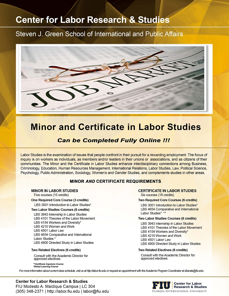 The Labor Center offers four academic programs | Center for Labor ...
